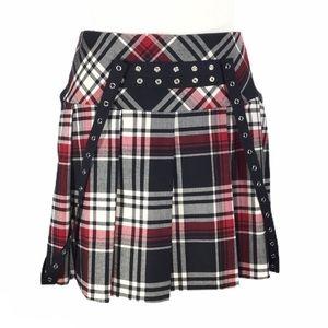 JUST IN TIME   School Girl Plaid Mini Skirt Grunge
